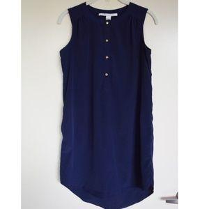 DVF Navy Sleeveless Dress